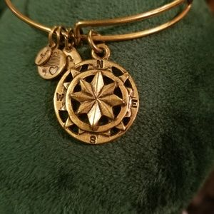 Alex and Ani Gold Tone Compass Bracelet